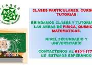 Clases Particulares, cursos y tutorias especializadas. Fisica, Quimica y Matematicas.