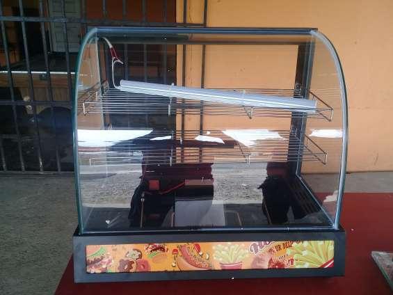 Vitrina caliente vidrio curvo 660*460*600mm 110v/60hz 800w 20 kg